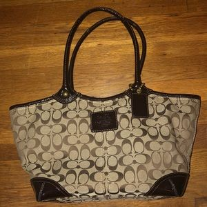 Coach Canvas Large Tote
